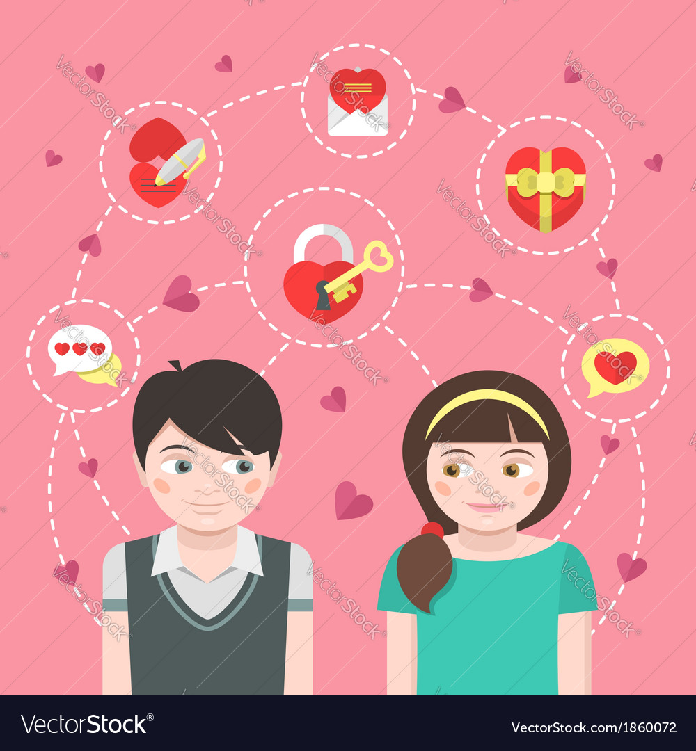 Dating concept vector | Price: 3 Credit (USD $3)