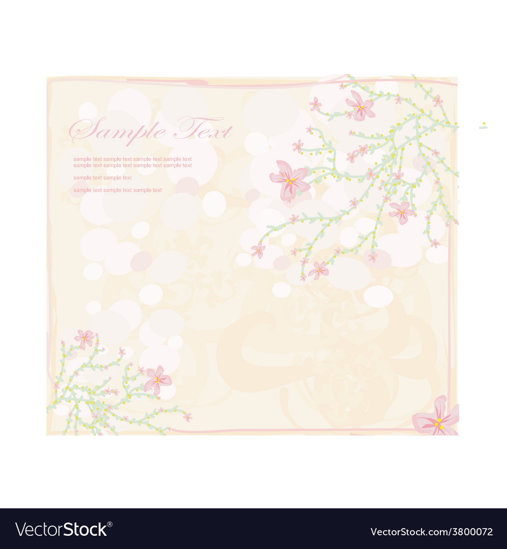 Floral frame invitation card vector | Price: 1 Credit (USD $1)