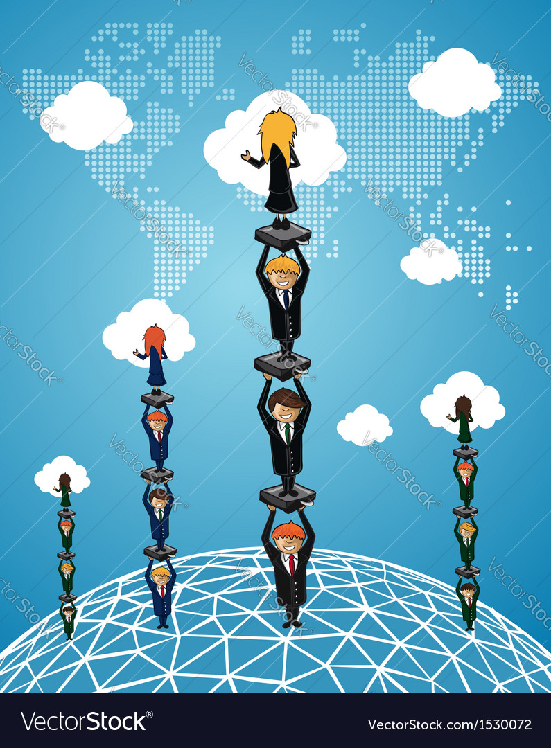 Global business teamwork success people vector | Price: 1 Credit (USD $1)