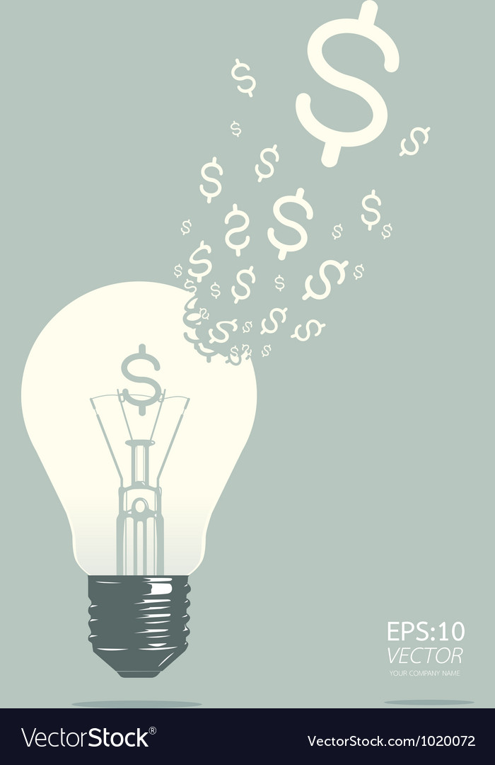 Light of business concept vector | Price: 1 Credit (USD $1)