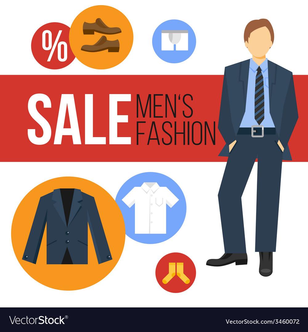 Men fashion clothes sale vector | Price: 1 Credit (USD $1)