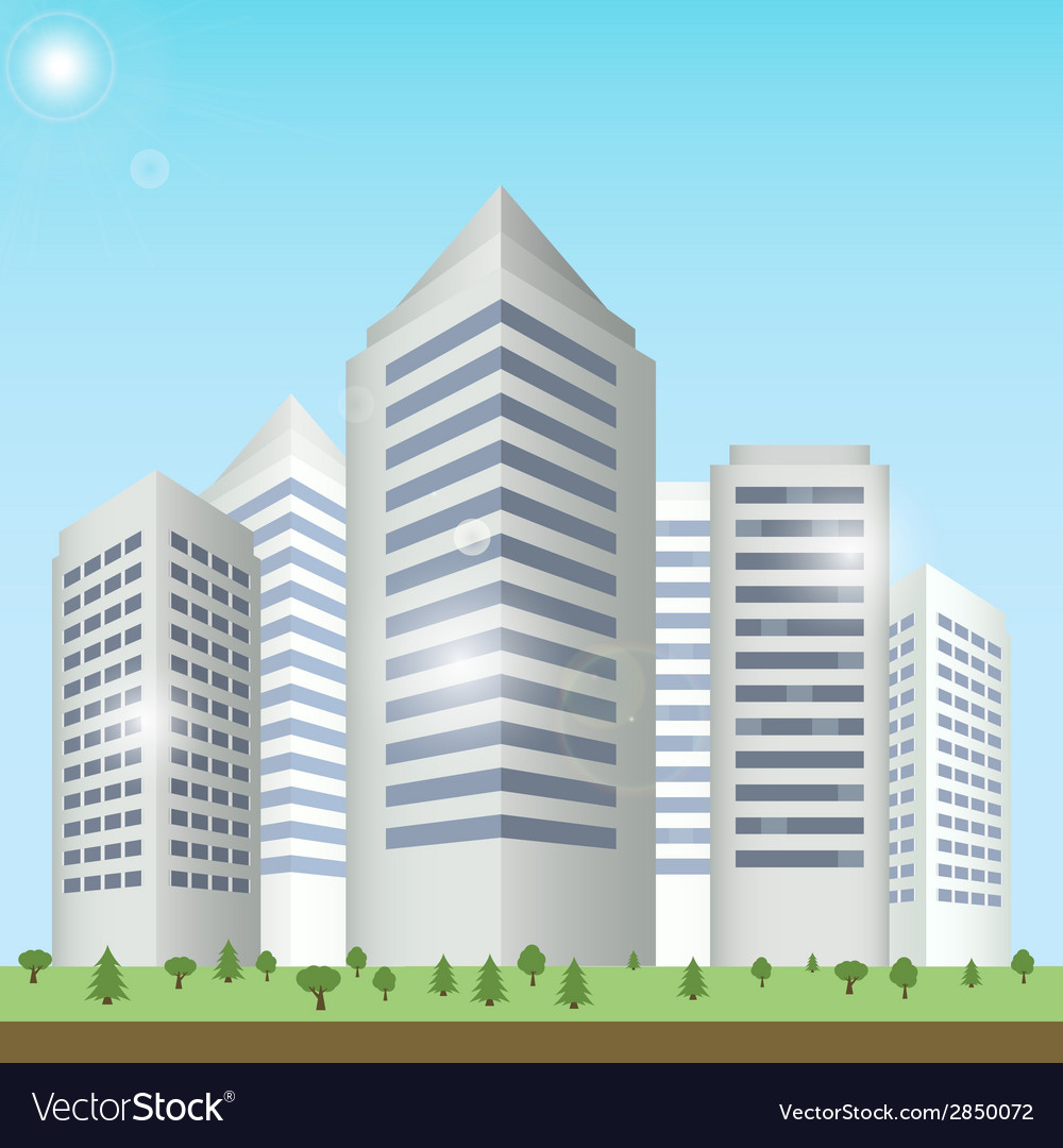 Modern buildings cityscape vector   Price: 1 Credit (USD $1)