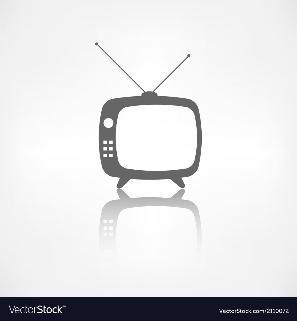 Retro tv icon vector | Price: 1 Credit (USD $1)