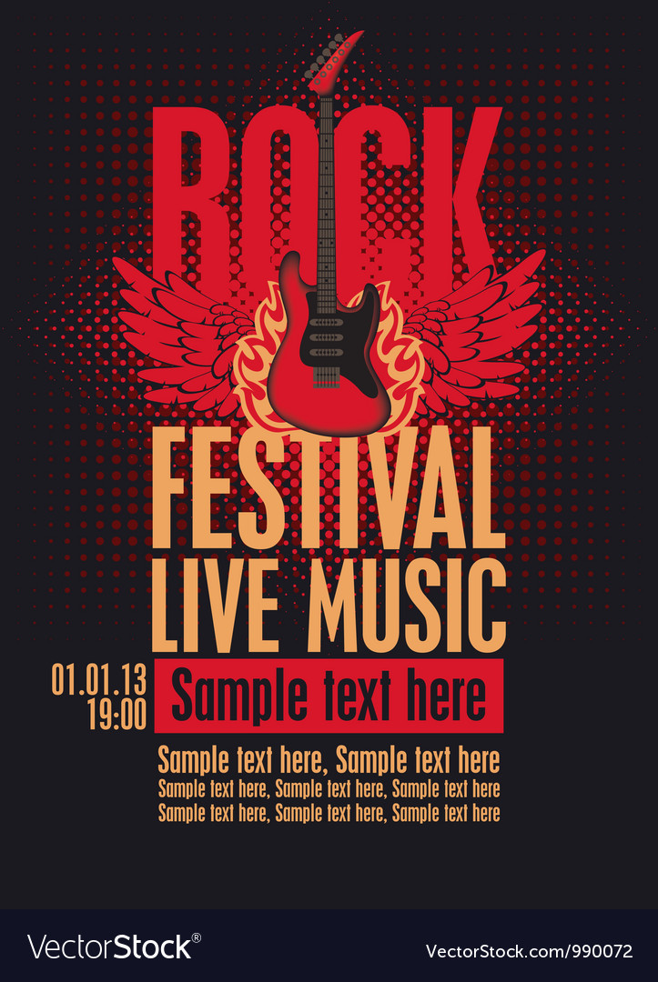 Rock festival vector | Price: 3 Credit (USD $3)