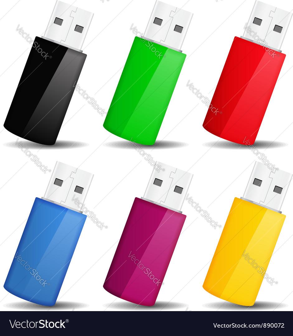 Usb flash drives vector | Price: 1 Credit (USD $1)