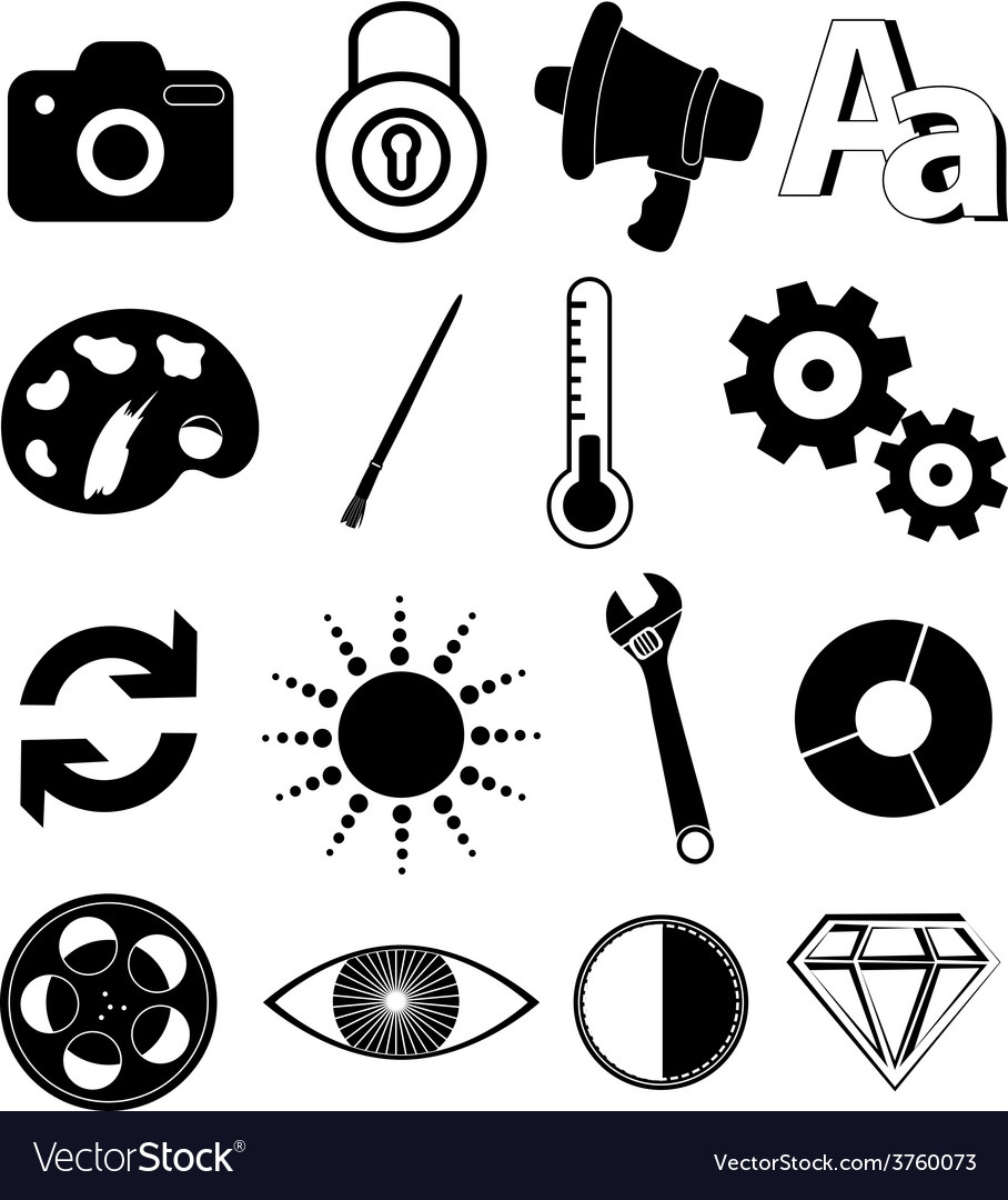 Application utility icons set vector | Price: 1 Credit (USD $1)