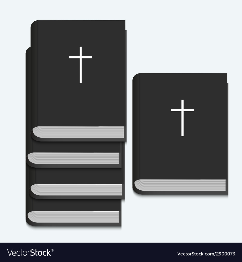 Bible on white background vector | Price: 1 Credit (USD $1)