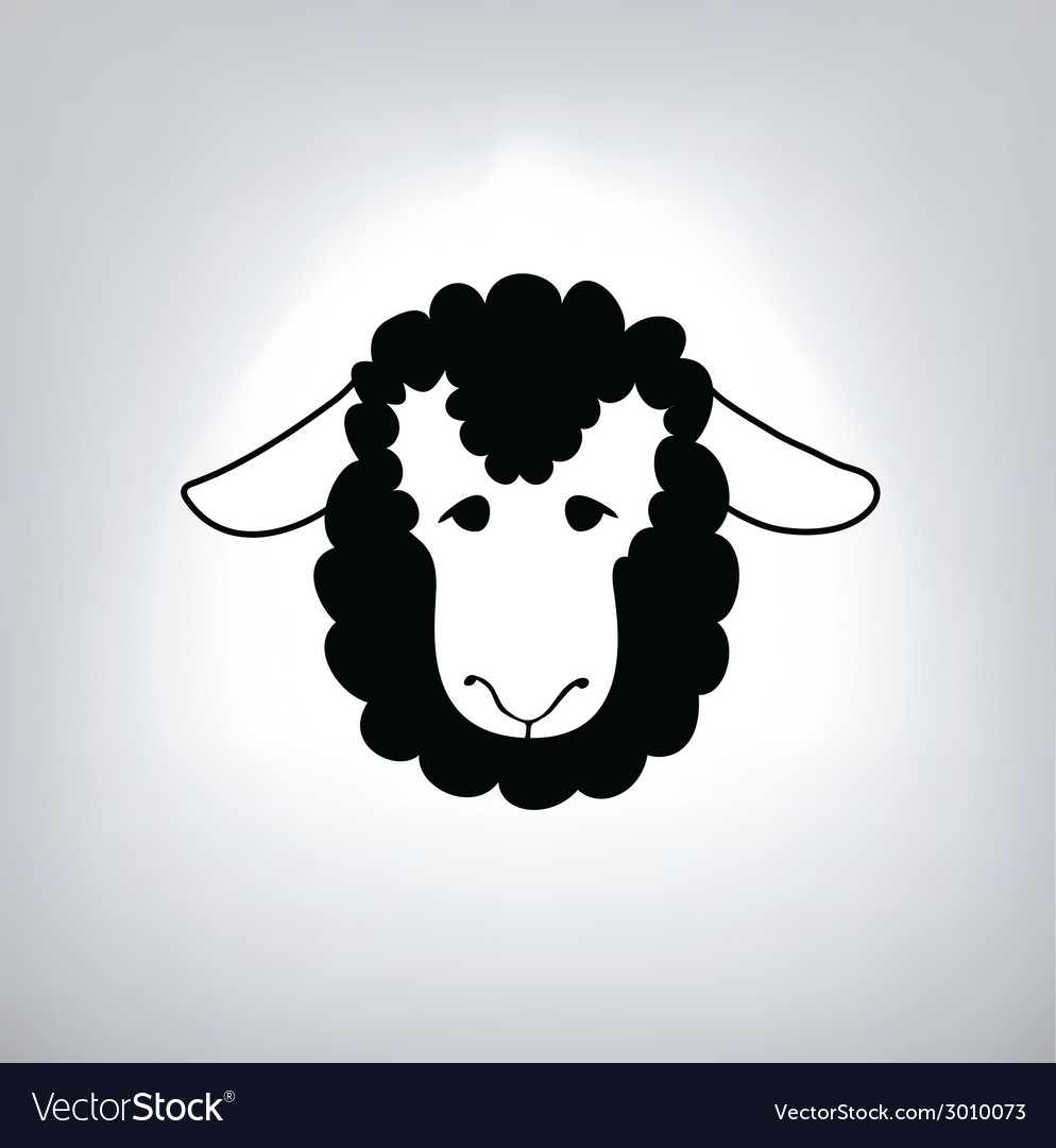 Black silhouette of sheep vector   Price: 1 Credit (USD $1)