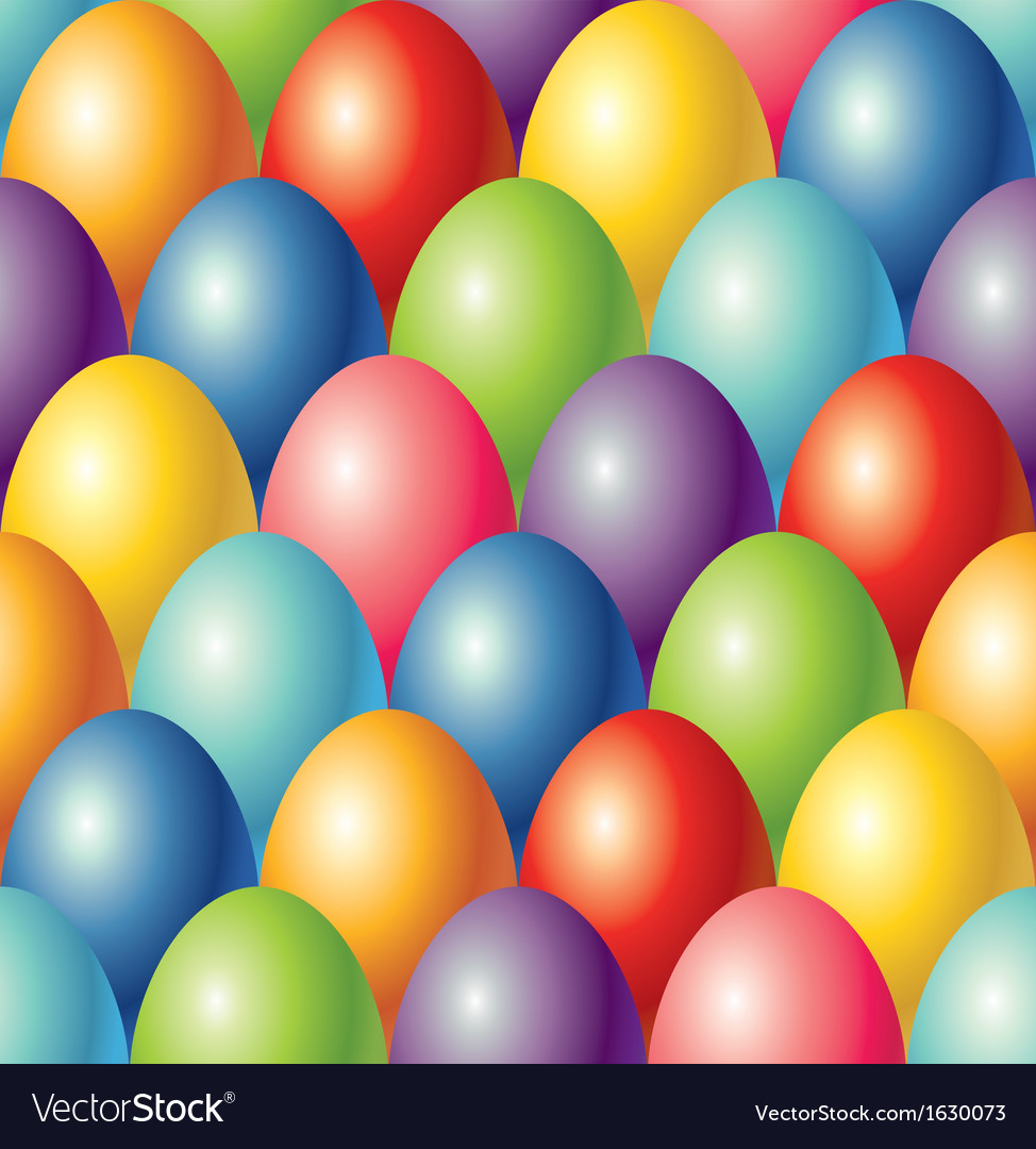 Colorful eggs easter seamless background vector | Price: 1 Credit (USD $1)