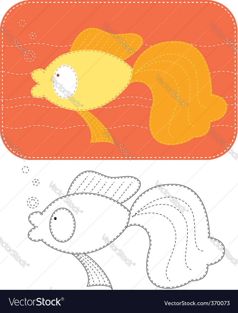 Fish sew vector | Price: 1 Credit (USD $1)