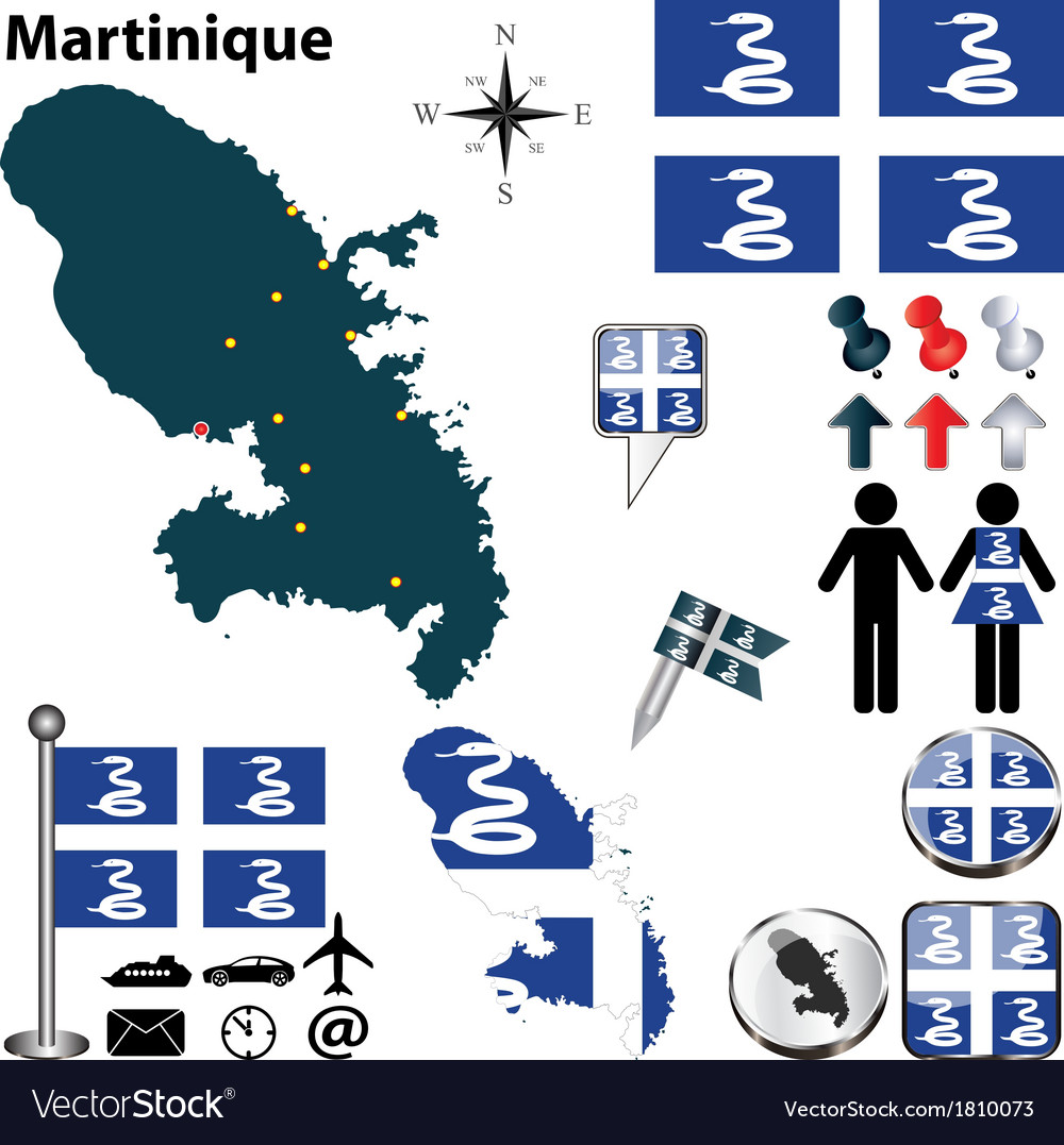Martinique map vector   Price: 1 Credit (USD $1)