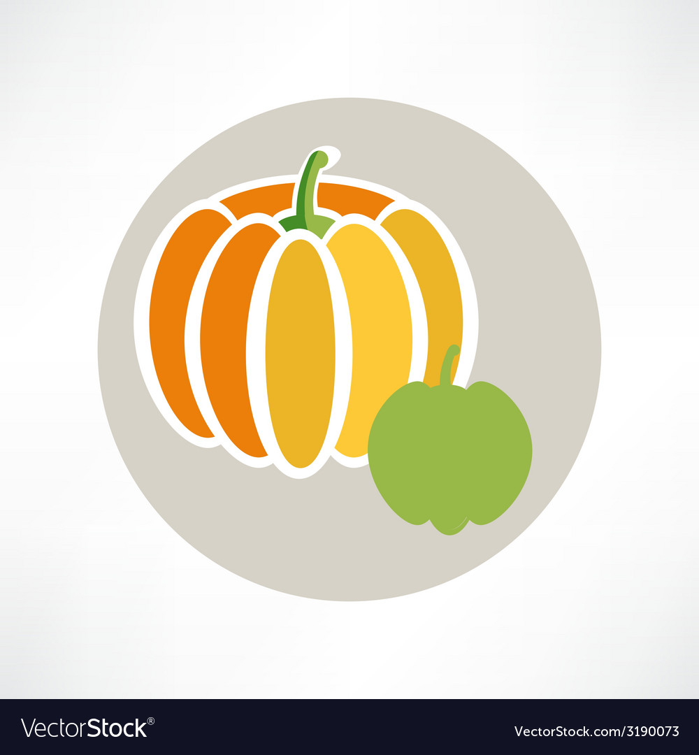 Pumpkin isolated over white vector | Price: 1 Credit (USD $1)