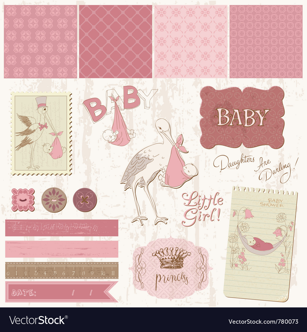 Scrapbook vintage design vector | Price: 1 Credit (USD $1)