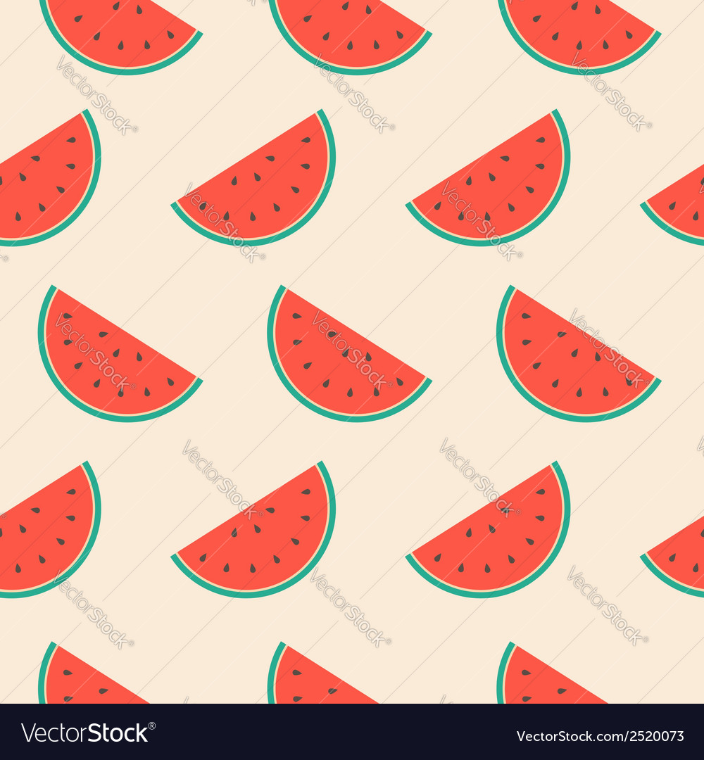 Seamless repeat pattern with watermelon slices vector | Price: 1 Credit (USD $1)