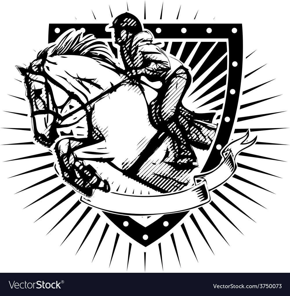 Show jumping shield vector | Price: 3 Credit (USD $3)