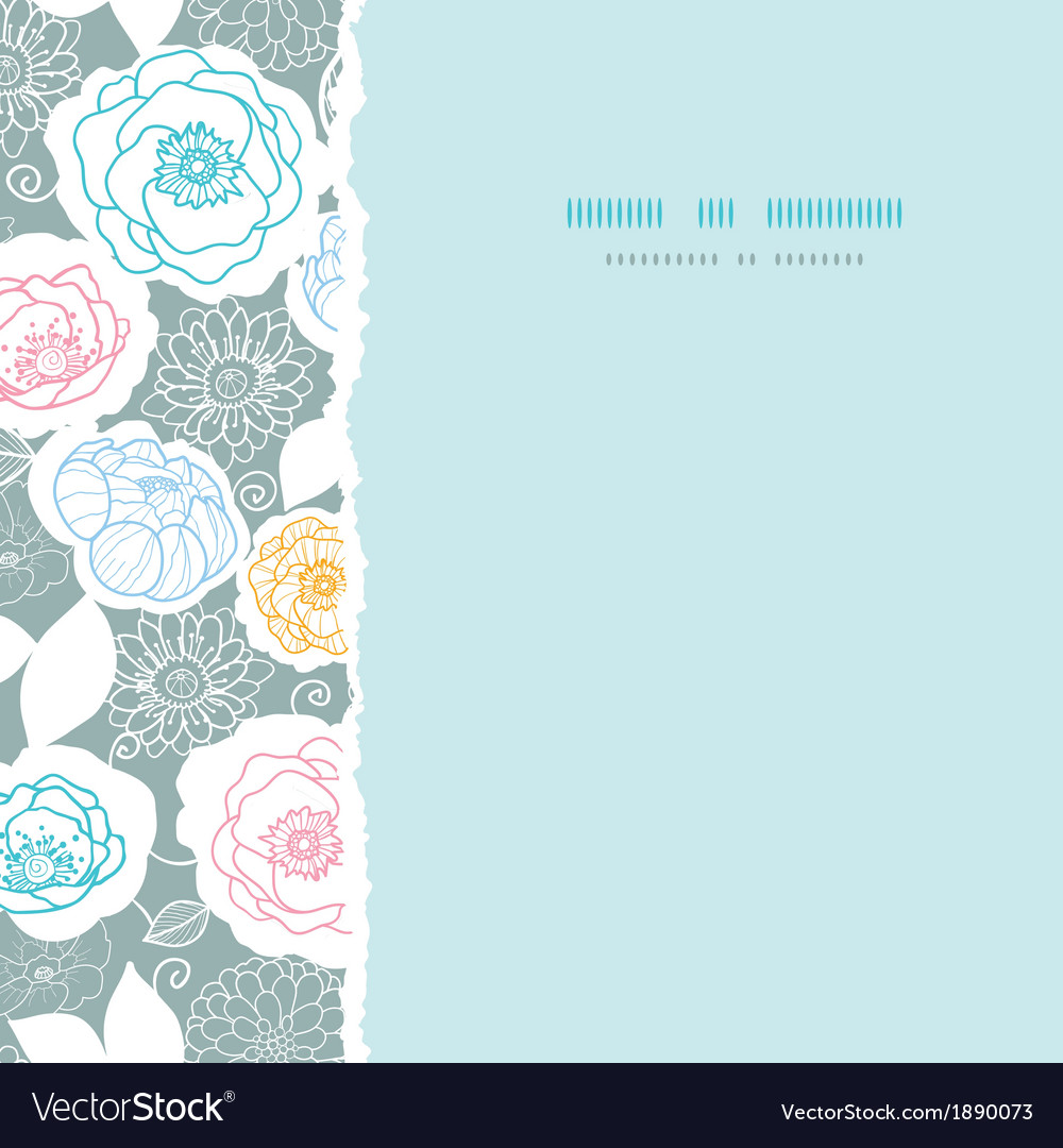 Silver and colors florals square torn seamless vector | Price: 1 Credit (USD $1)