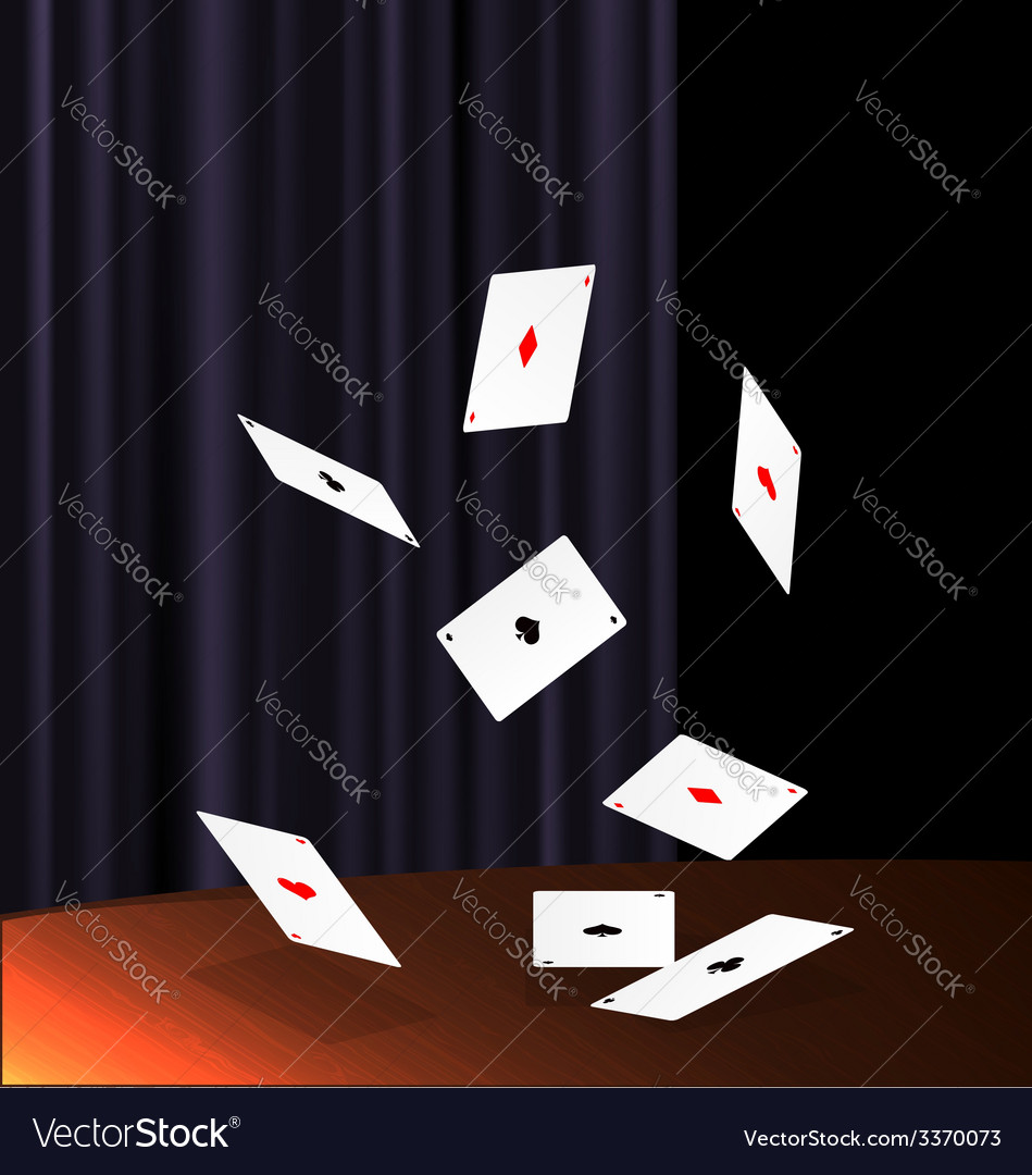 Table and flying cards vector | Price: 1 Credit (USD $1)