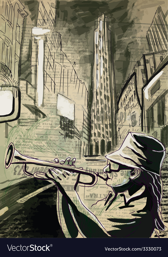 Trumpet player vector   Price: 3 Credit (USD $3)