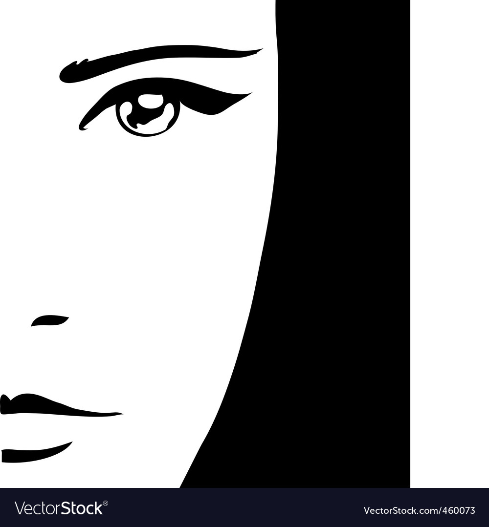 Woman's portrait vector | Price: 1 Credit (USD $1)