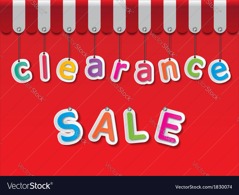 Clearance sale vector | Price: 1 Credit (USD $1)