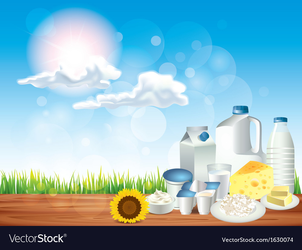 Dairy sunny background vector | Price: 1 Credit (USD $1)