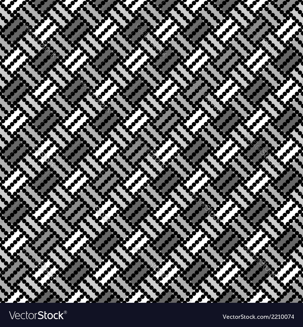 Design seamless monochrome pointed pattern vector | Price: 1 Credit (USD $1)