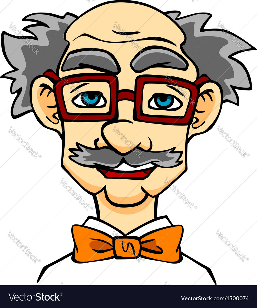 Elderly man in eyeglasses vector | Price: 3 Credit (USD $3)