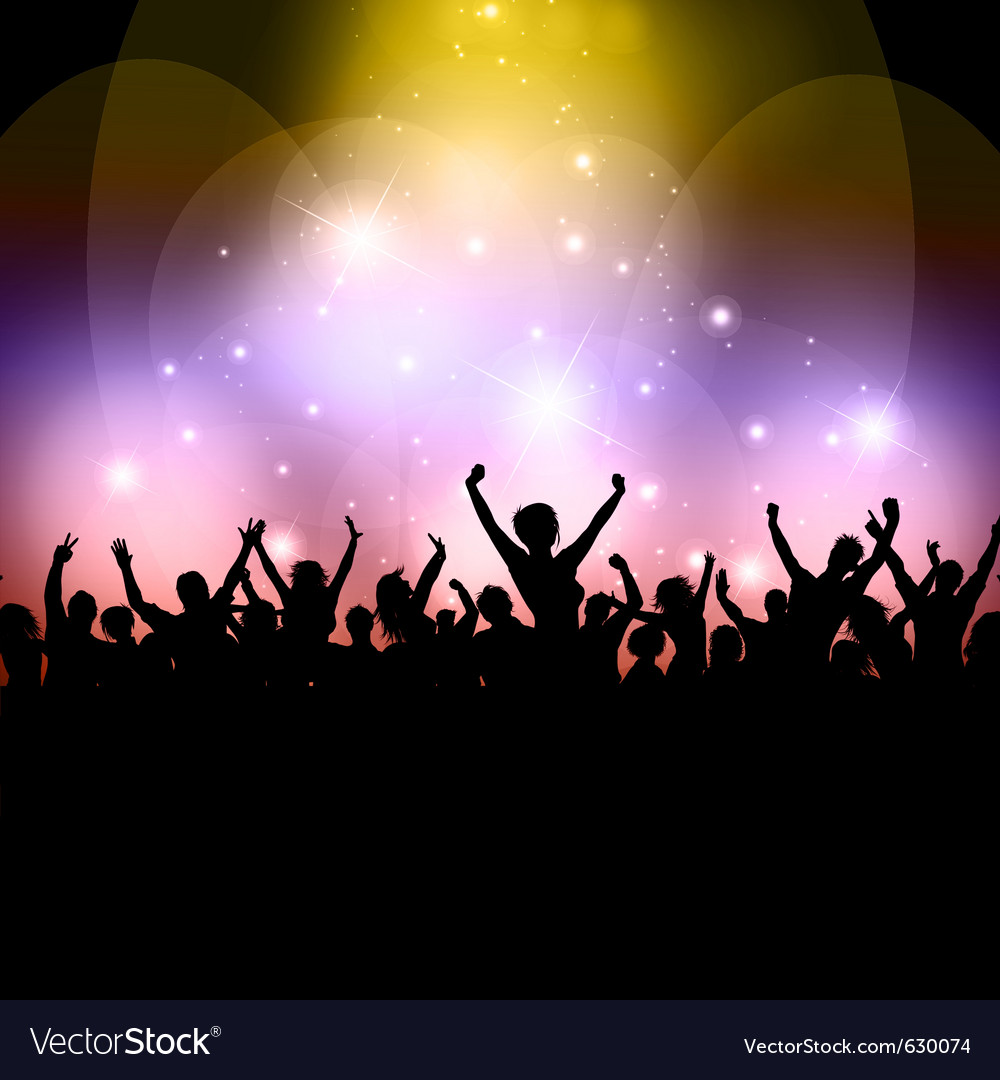 Excited audience vector | Price: 1 Credit (USD $1)