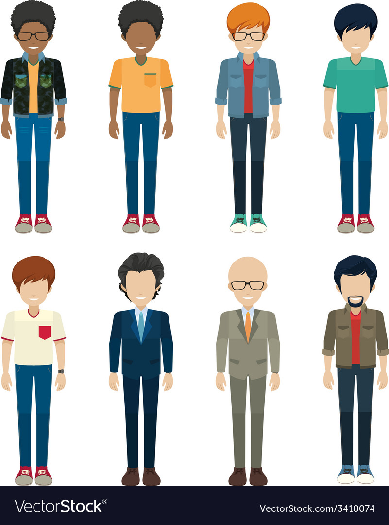 Faceless bachelors vector