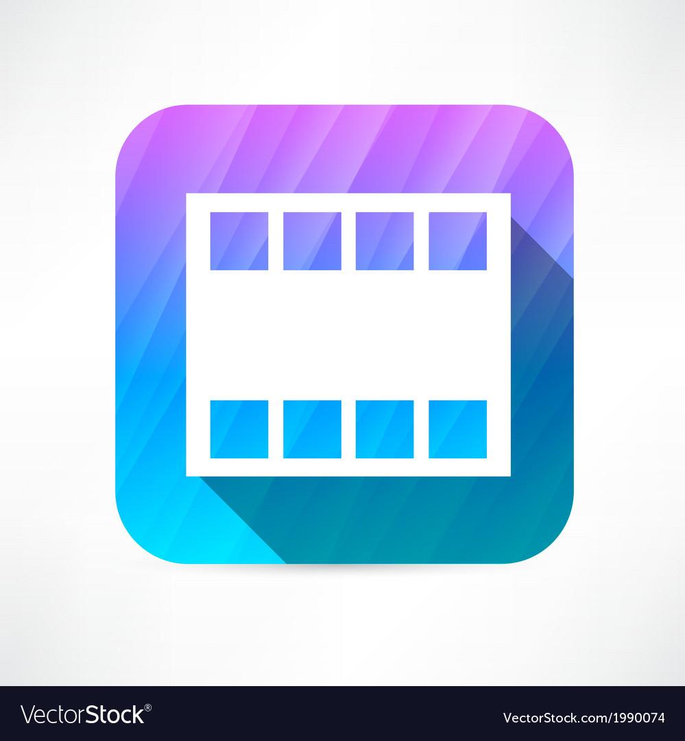 Film frame icon vector | Price: 1 Credit (USD $1)