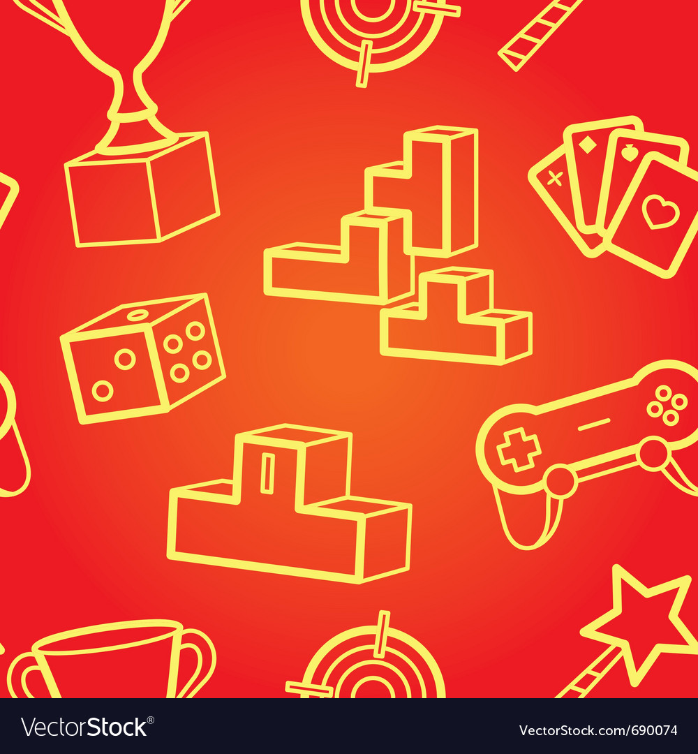 Game seamless pattern vector | Price: 1 Credit (USD $1)