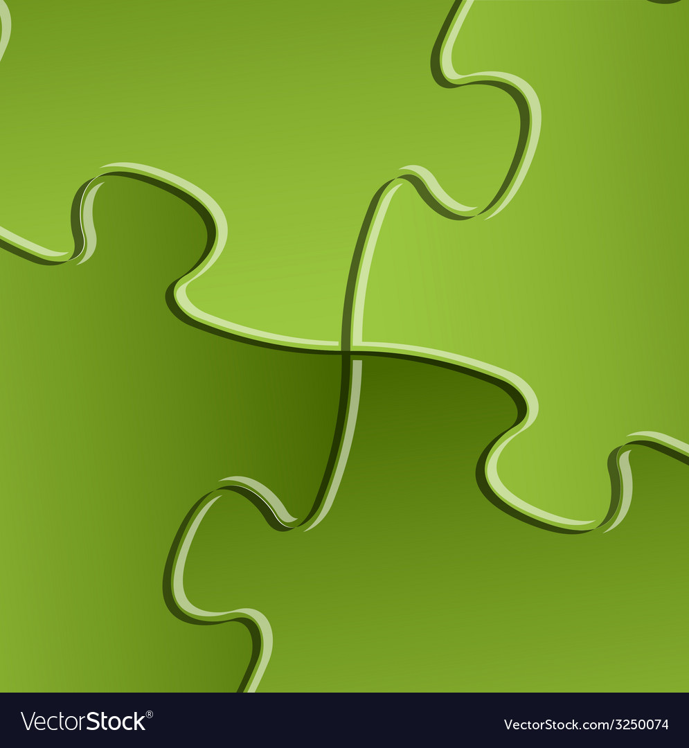 Green puzzle solution background vector | Price: 1 Credit (USD $1)