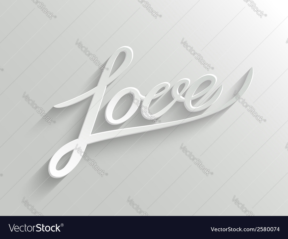 Love lettering greeting card vector | Price: 1 Credit (USD $1)