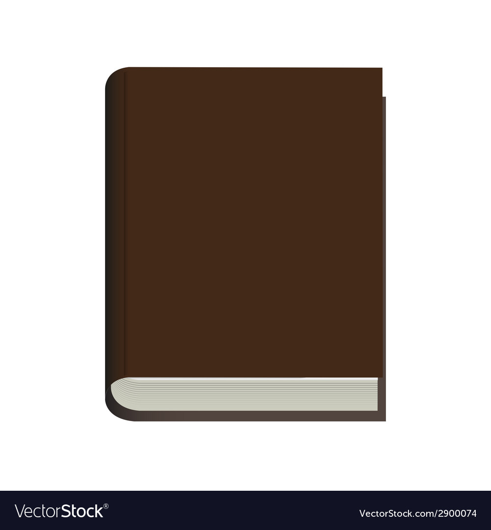 Modern book on white background vector | Price: 1 Credit (USD $1)