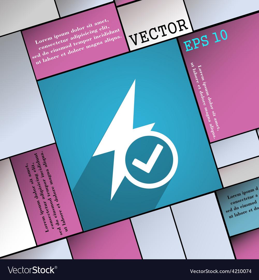 Photo flash icon symbol flat modern web design vector | Price: 1 Credit (USD $1)