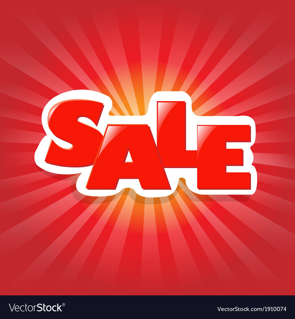 Red poster sale vector | Price: 1 Credit (USD $1)