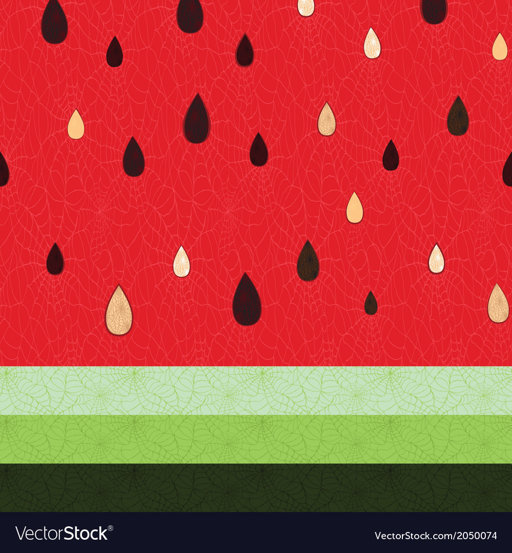 Seamless watermelon fruit pattern vector | Price: 1 Credit (USD $1)