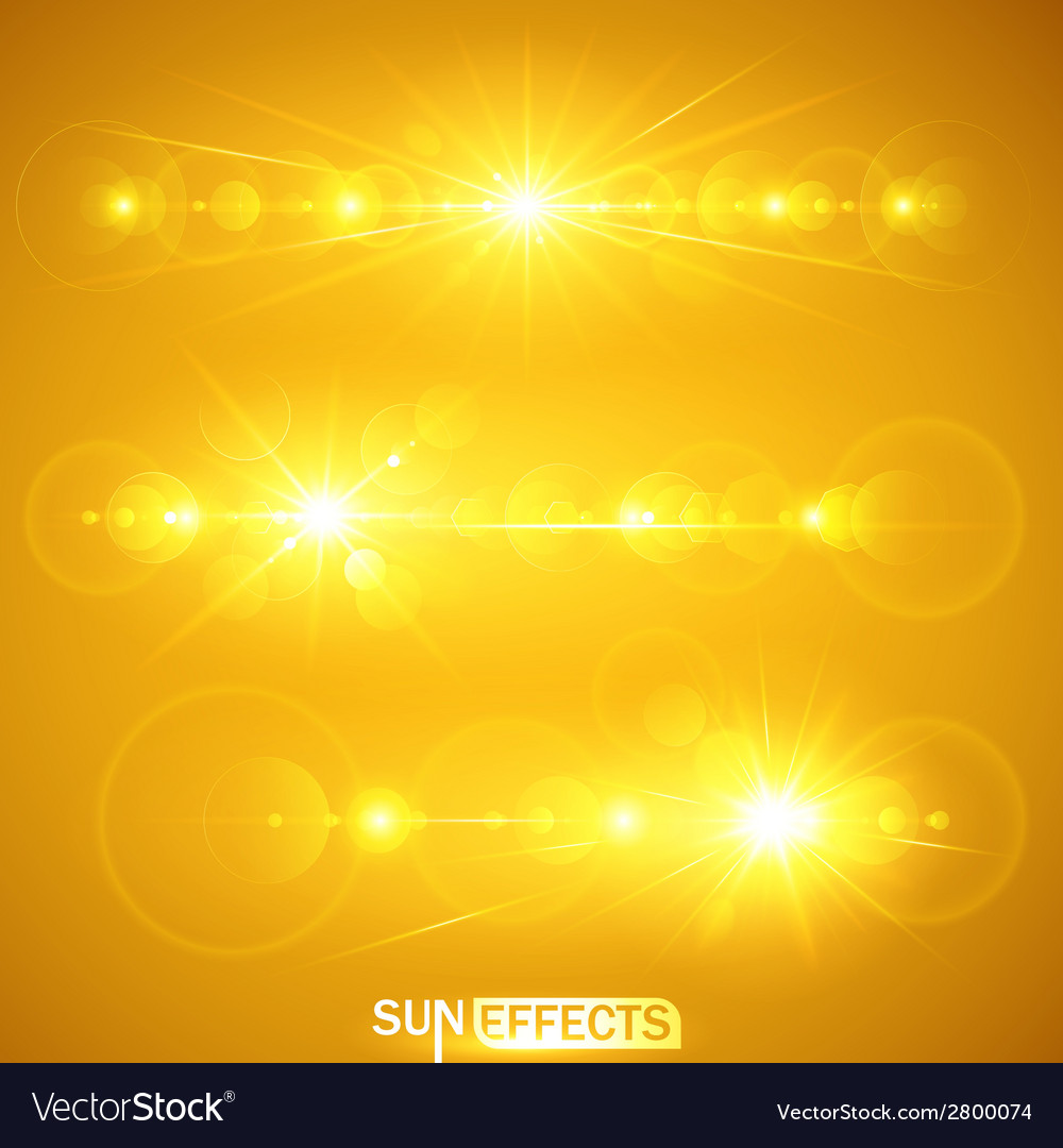 Sun effects vector | Price: 1 Credit (USD $1)