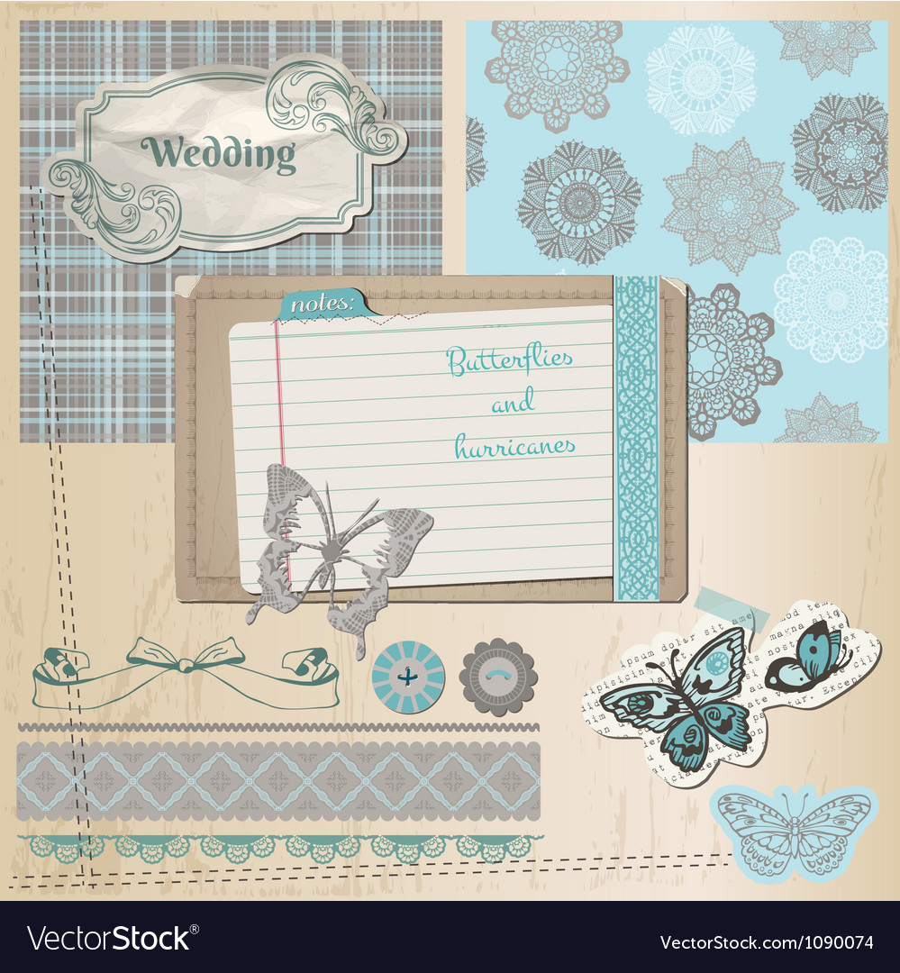 Wedding retro set vector | Price: 3 Credit (USD $3)