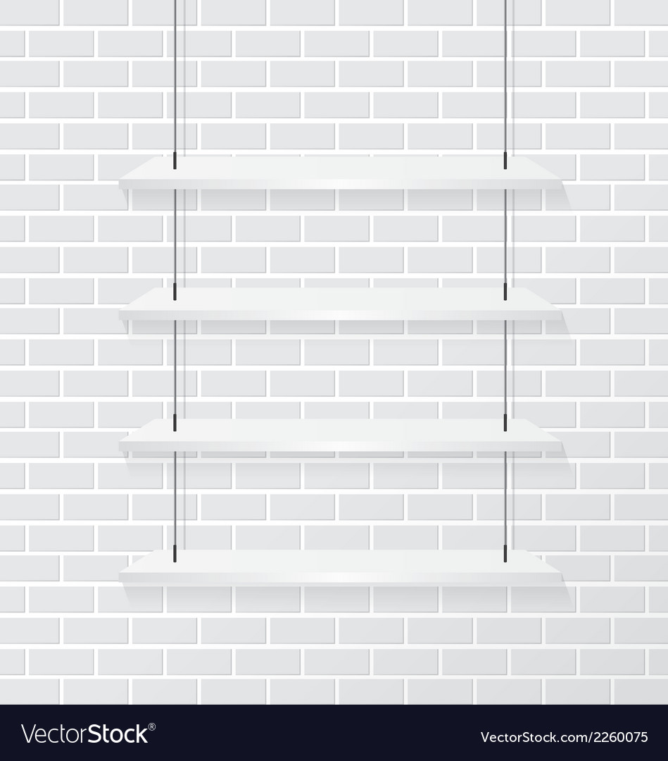 Brick wall and white shelve vector | Price: 1 Credit (USD $1)
