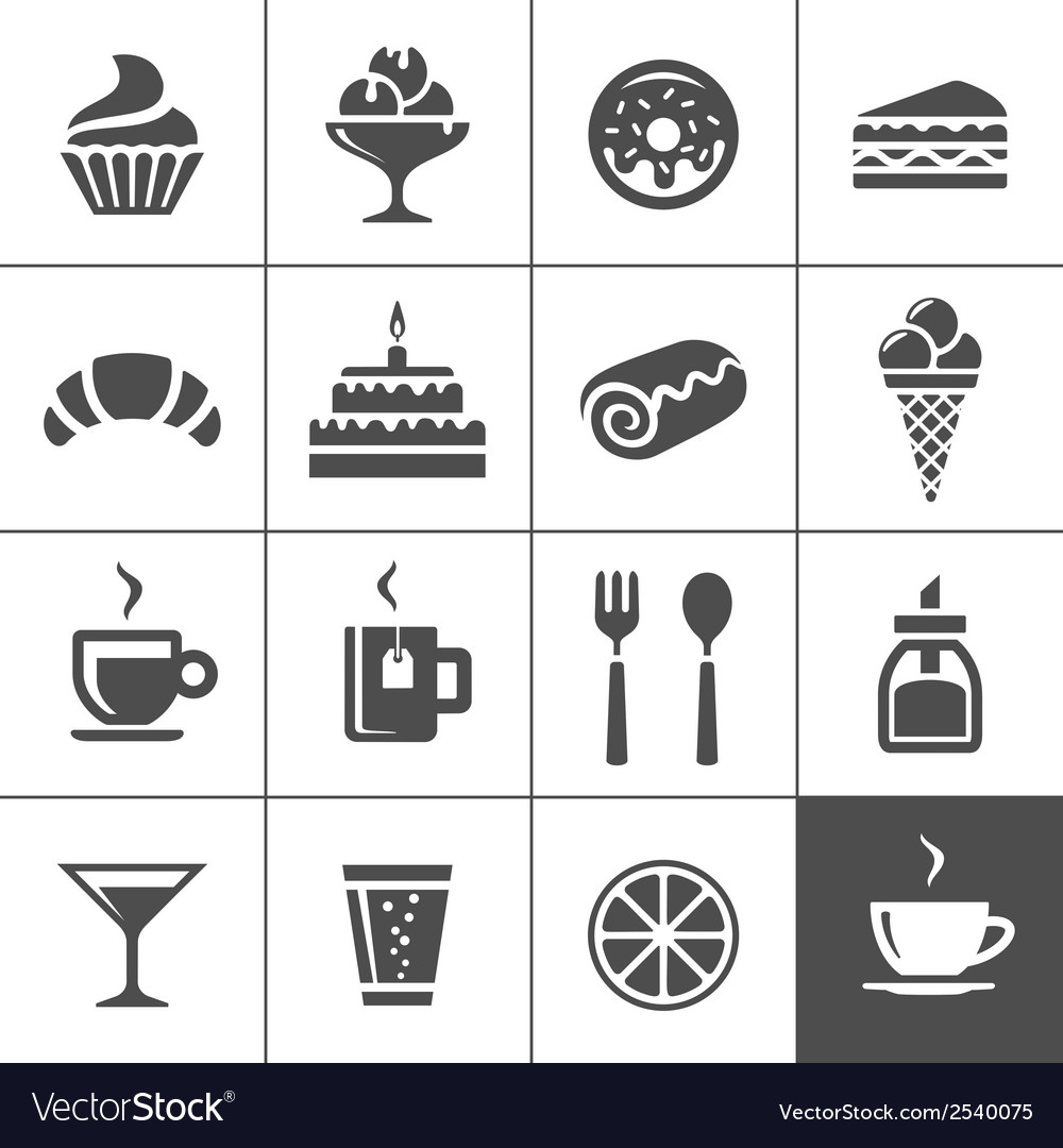 Cafe and confectionery icons vector | Price: 1 Credit (USD $1)