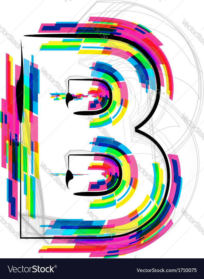 Colorful font letter b vector | Price: 1 Credit (USD $1)