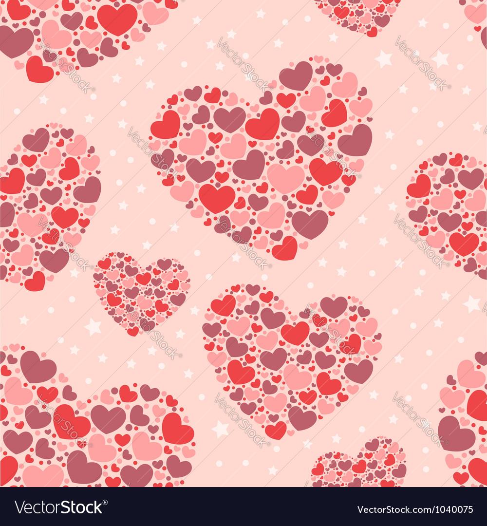 Cute valentine love seamless pattern vector | Price: 1 Credit (USD $1)