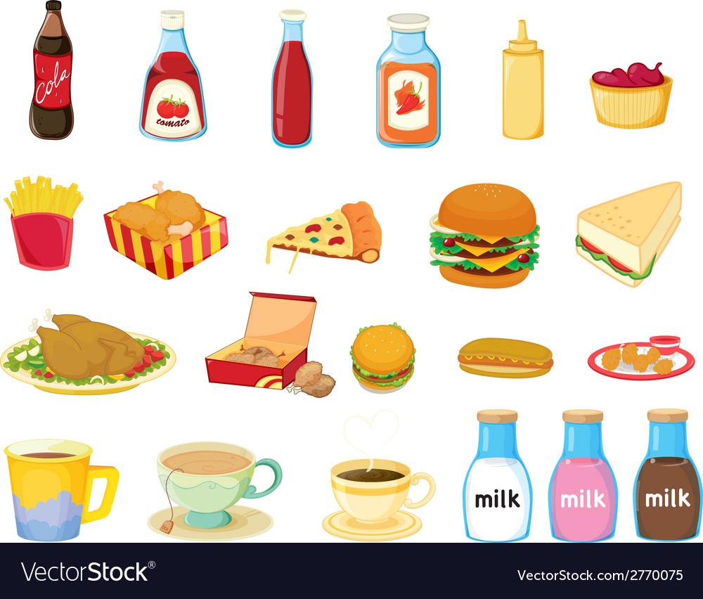 Food set vector | Price: 1 Credit (USD $1)