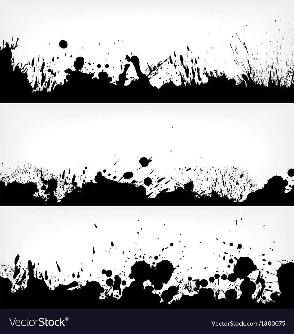 Grunge ink splash banners vector | Price: 1 Credit (USD $1)