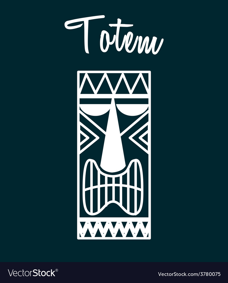 Hawaii totem vector | Price: 1 Credit (USD $1)