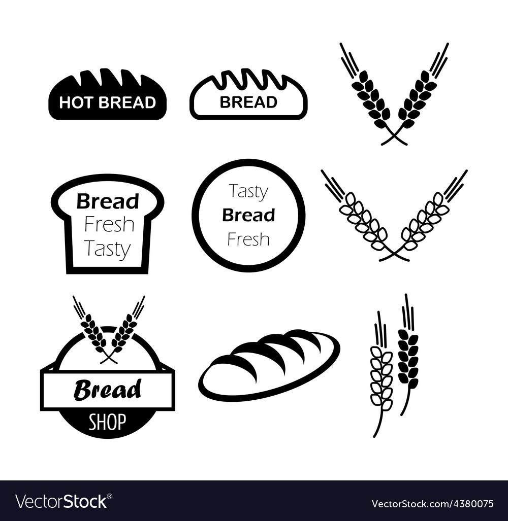 Icons of hot bread vector | Price: 1 Credit (USD $1)