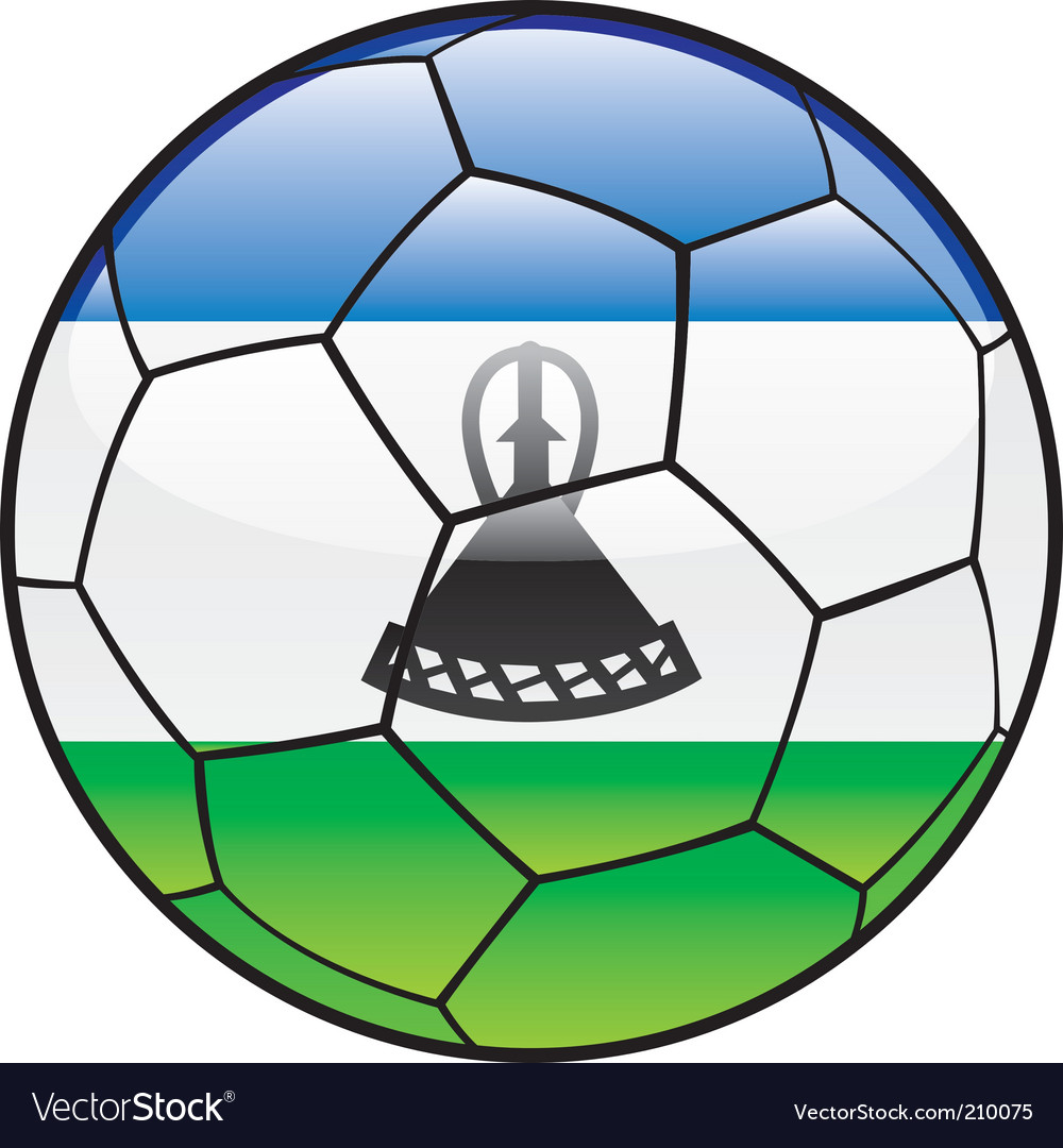 Lesotho flag on soccer ball vector | Price: 1 Credit (USD $1)
