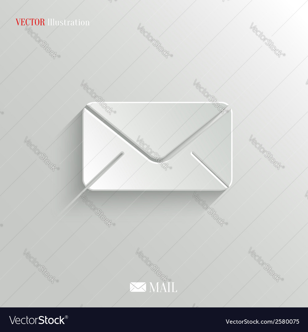 Mail icon - web background vector | Price: 1 Credit (USD $1)