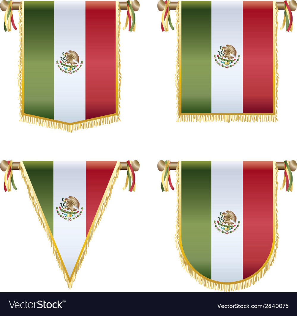 Mexican pennants vector | Price: 1 Credit (USD $1)